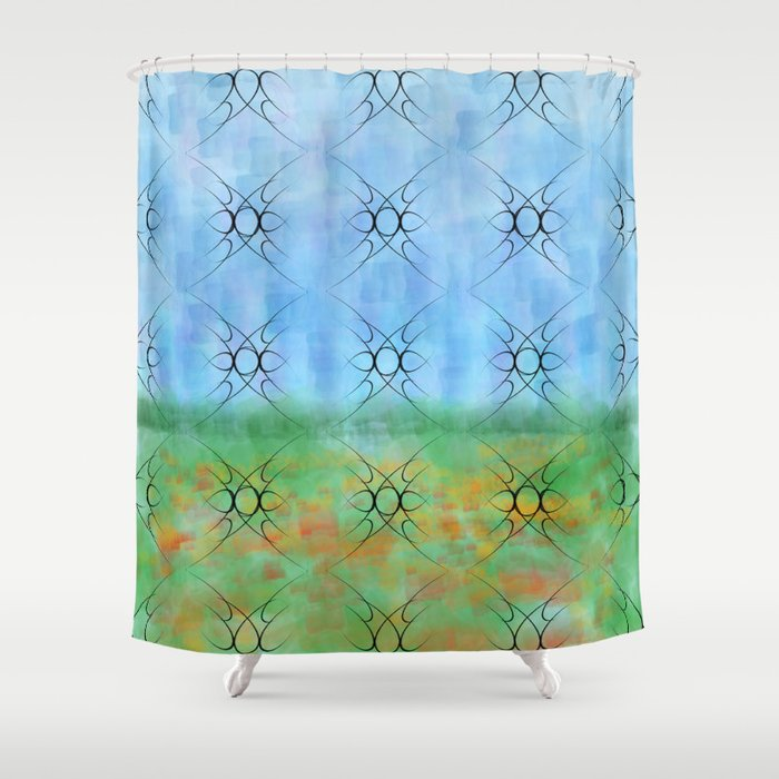 looking through the window Shower Curtain