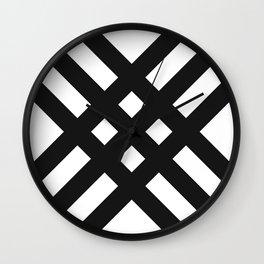 BLACK LACES Wall Clock