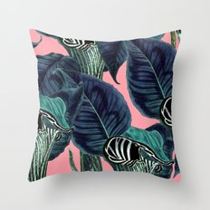 Tropical Flower Pattern #society6 #decor #buyart Throw Pillow