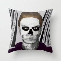 ahs Throw Pillows featuring AHS : PSYCHOPATH by Andrea Valentina