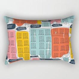 Cinque Terre Houses Rectangular Pillow