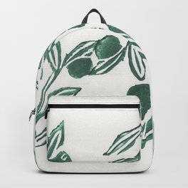 Olive engraving, green poster Backpack