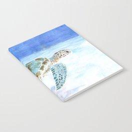 Sea turtle underwater Notebook