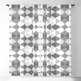 Grey Triangles Blackout Curtain