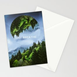 just breathe Stationery Cards