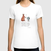 marc T-shirts featuring Pipe-smoking rabbit by Marc Johns
