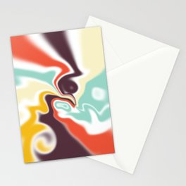 Liquid shapes Stationery Cards