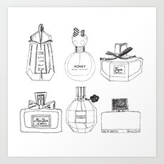 Boudoir Glamour Perfumes Print Art Print