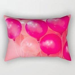 Bunch of balloons in red Rectangular Pillow