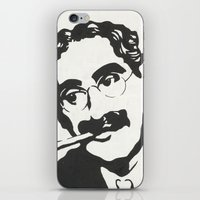 marx iPhone & iPod Skins featuring Mr. Marx Acrylic Pop Art by Kathryn Price