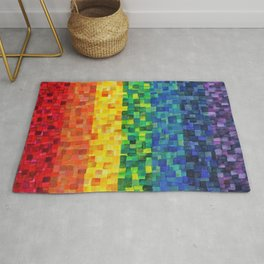Chakra Rainbow Tiles Rug