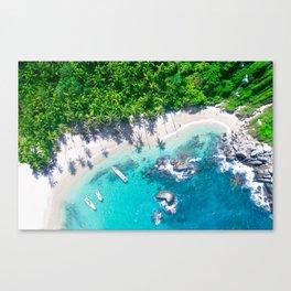 Jungle Beach | Caribbean Island Canvas Print