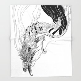 Falling dragon Throw Blanket