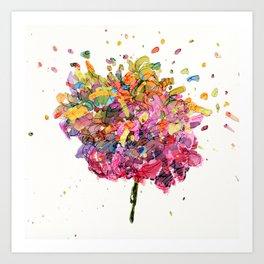 Flower Symphony-Rainbow Art Print