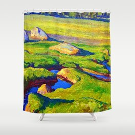 Maynard Dixon Glacial Meadow Shower Curtain