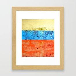 Sky Sea Beach 4 Framed Art Print