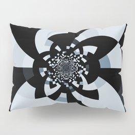 Steel Blue Black Kaleidoscope Pillow Sham