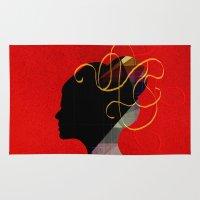redhead Area & Throw Rugs featuring Redhead by John Murphy