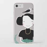 abigail larson iPhone & iPod Cases featuring Abigail by June Keser