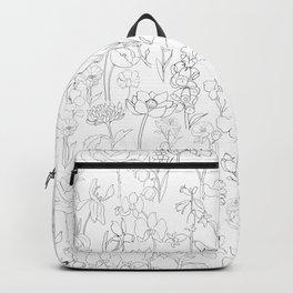 flowers drawing Backpack