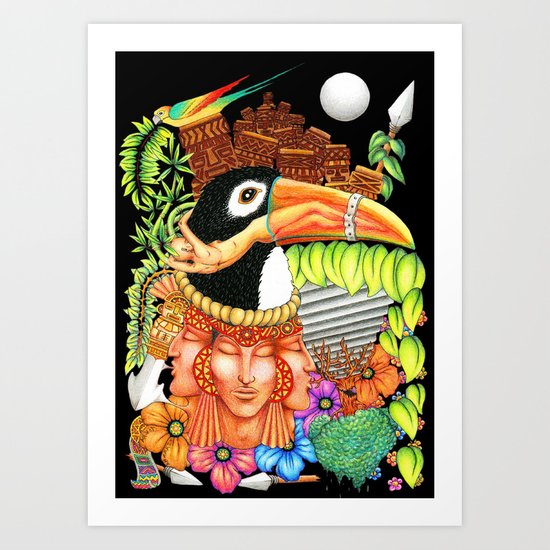 Toucan Fantasy Art Design Art Print