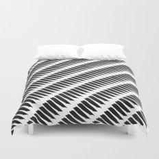 Black and White Tiger Stripes Duvet Cover