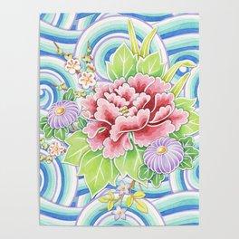 Kimono Bouquet Poster
