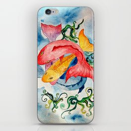 Colorful Fish Swirl iPhone Skin