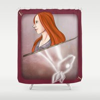 potter Shower Curtains featuring Lily Potter by Imaginative Ink