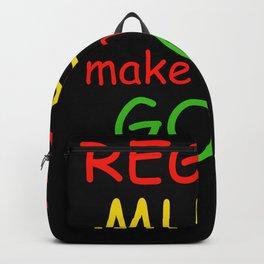 Reggae Music Make Me Feel Good Backpack