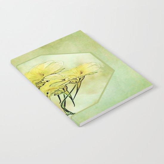 Elegant Framed Floral Abstract - Green Notebook