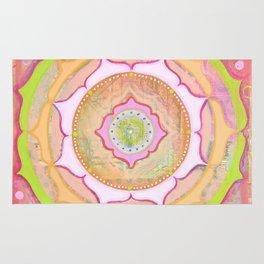 Pink Lotus Mandala Rug