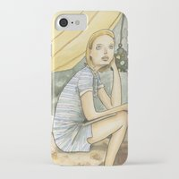 tenenbaum iPhone & iPod Cases featuring Margot Tenenbaum by Patt Kelley