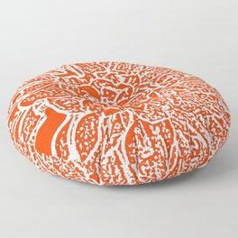 Dahlia Lino Cut, Fiery Red Floor Pillow