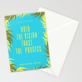 Hold your vision trust the process | Abraham hicks Quote Stationery Cards