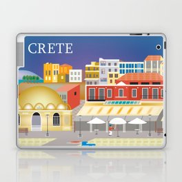 Crete, Greece - Skyline Illustration by Loose Petals Laptop & iPad Skin