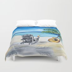 Beach Time with Martin Duvet Cover