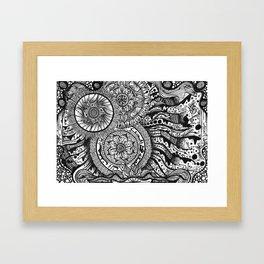 Henna flow Framed Art Print