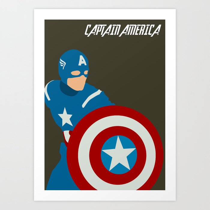 Captain America Art Print By Thewonderlander Society6