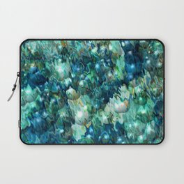 Blue Christmas Abstract Laptop Sleeve