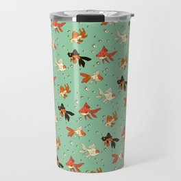 Goldfish Pattern Travel Mug