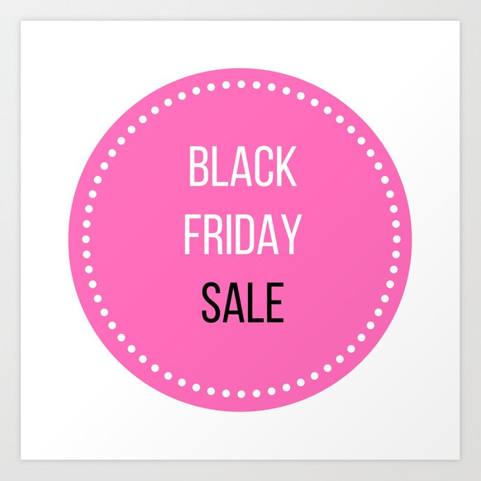 Black Friday Sale Icon Stylish Marketing Icon Pink Art Print By Wellglow Society6
