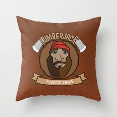 Lumberjack Since 1949 Throw Pillow
