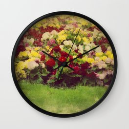 Vintage Pretty Flowers Wall Clock