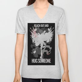 Reach Out and Hug Someone Unisex V-Neck