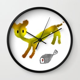 Catty Affairs Wall Clock