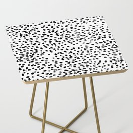 Nadia - Black and White, Animal Print, Dalmatian Spot, Spots, Dots, BW Side Table