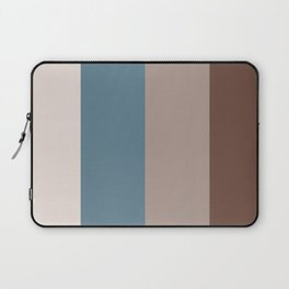 4 Bold Wide Lines Behr Blueprint Blue, Brown Velvet, Coffee with Cream, and Cameo Stone Laptop Sleeve