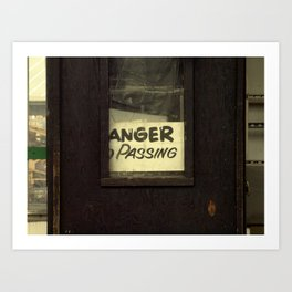 Anger Passing Art Print