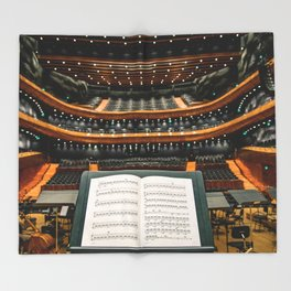 Orchestre Theater score Throw Blanket